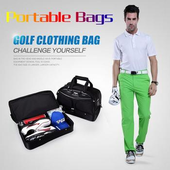 Cheaper 2018 PGM Golf Clothes Bag Men's ball bag Large Capacity Double Layer clothes bag Nylon Waterproof golf bag for men