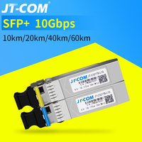 10G BIDI 10/20/40KM SFP Module SM LC 1270/1330nm Gigabit Single Mode Single Fiber Optic Transceiver Compatible with Cisco Switch