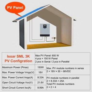 Image 5 - EASUN POTENZA 3KVA Solare Inverter 2400W 24V 220V Inverter Ibrido Invertitore Puro Dellonda di seno Built in MPPT solare Batteria del Controller del Caricatore