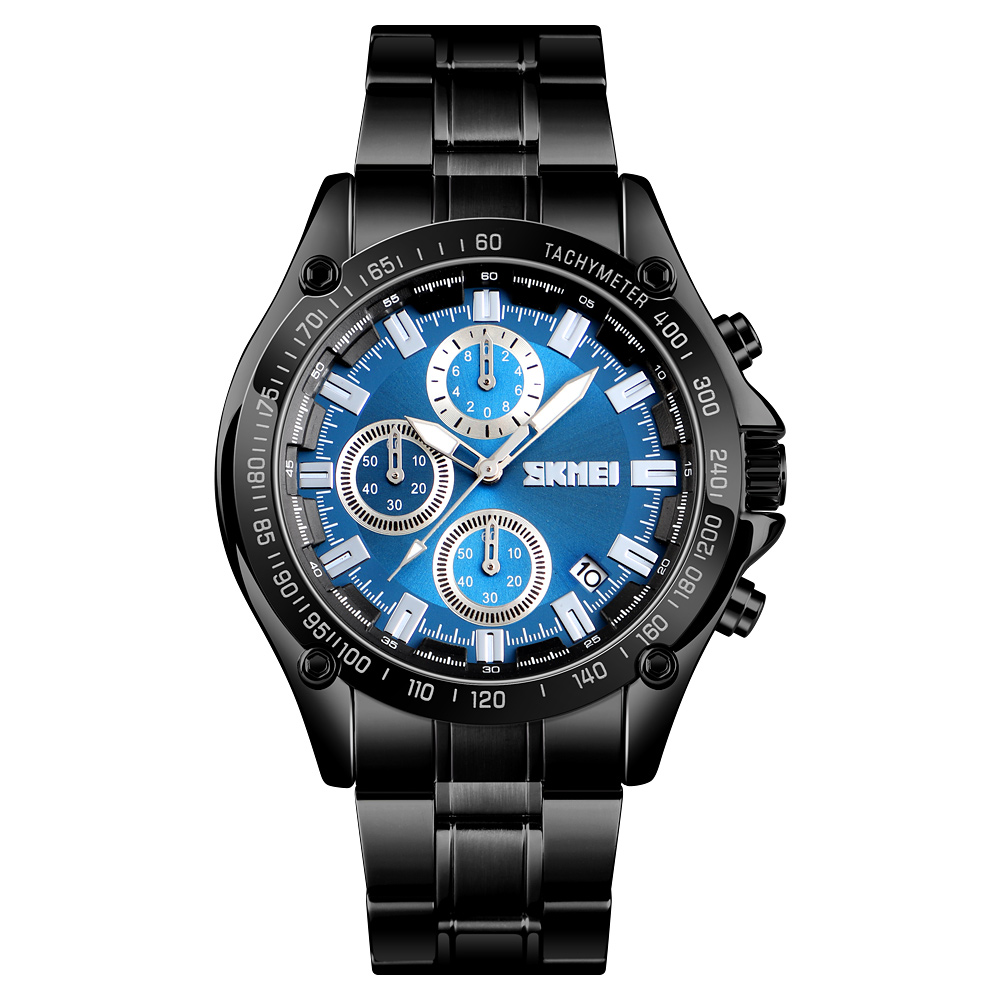 <font><b>SKMEi</b></font> Quartz Men'S Watch Stainless Steel Strap Waterproof Date Fashion Casual Sports Watch <font><b>1393</b></font> image