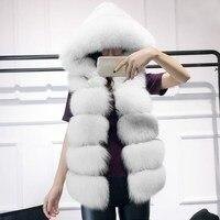 Winter Warm Vest Fashion Women Coat Fur Vest Faux Fur Coat Fox Fur Long Plus Size Vest