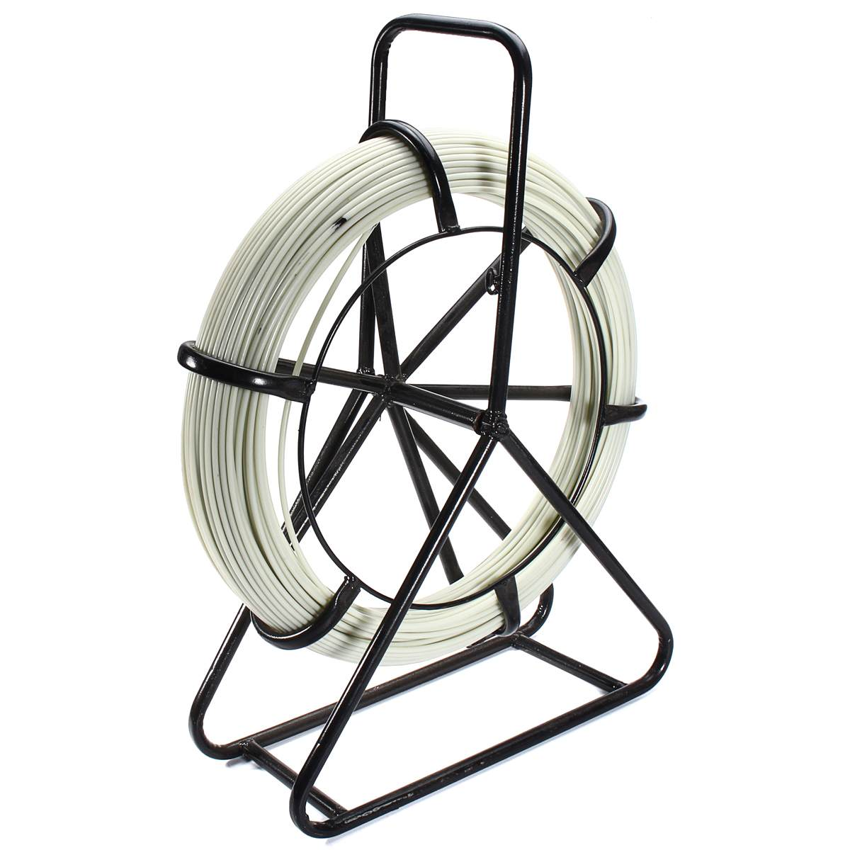 Fiberglass Fish Tape Wire Cable Running Duct Rodder Fishtape Puller Guide Leads Running Rod Wiring Accessories 4.5mm x 100mFiberglass Fish Tape Wire Cable Running Duct Rodder Fishtape Puller Guide Leads Running Rod Wiring Accessories 4.5mm x 100m