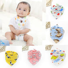 Kids High Quality Baby Bibs Feeding Cartoon Animal Print Towel Boy&Girl Baby Bandana Bibs Triangle Dribble Head Baby Scarf(China)