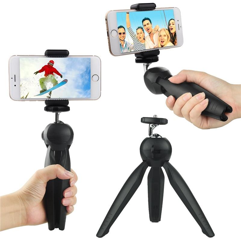 Yunteng YT-228 Mini trípode Soporte para trípode flexible Con soporte para teléfono Clip y cabeza esférica Para teléfono con cámara digital DSLR