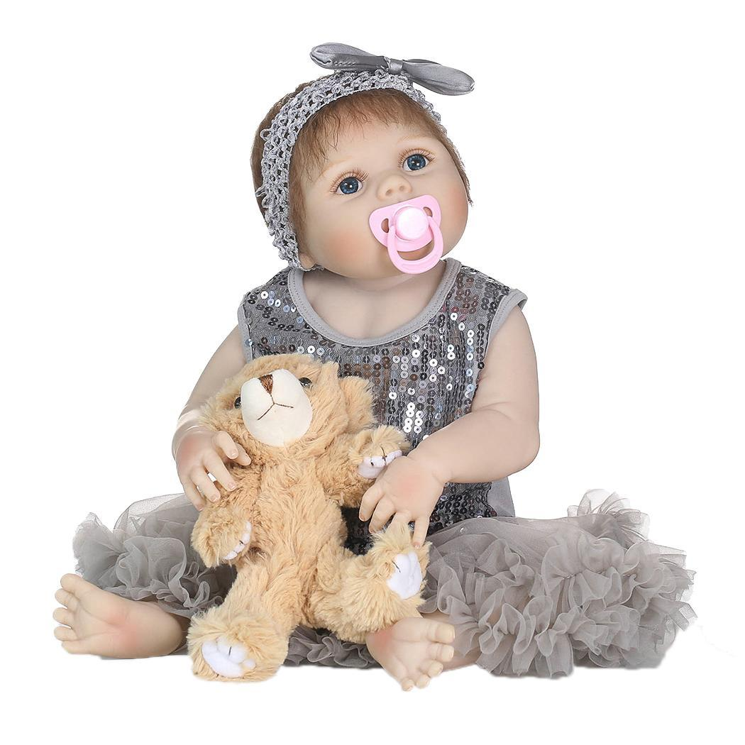 Soft Silicone Newborn Baby Reborn Doll Babies Dolls Lifelike Real Kids Soft Silicone Realistic With Clothes Reborn Baby DollSoft Silicone Newborn Baby Reborn Doll Babies Dolls Lifelike Real Kids Soft Silicone Realistic With Clothes Reborn Baby Doll