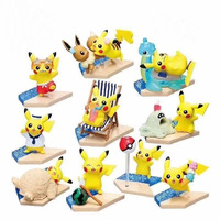 Action Pikachu Figurine 10 Pcs/set Animation Toys Pet Monster Model Pokeball Pikachus Gift Boxed Doll Free Shipping Pikachu Set