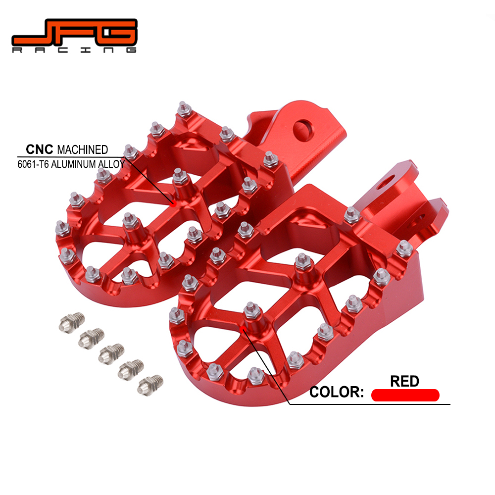Motorcycle Offroad CNC Foot Pegs Pedals Rests For HODNA CRF150F  2003-2009 CRF230F 2012 2013 2014 2015 2016 2017