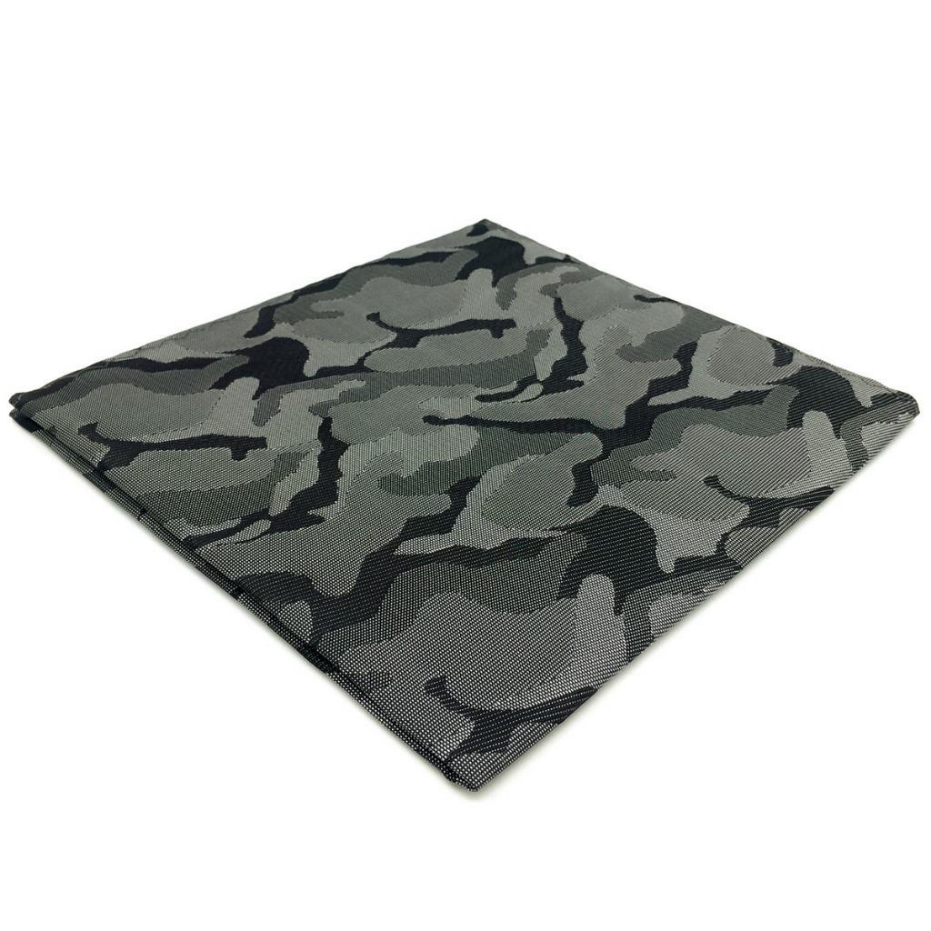 EH30 Mens Pocket Square Dark Grey Abstract Fashion Handkerchief Classic Accessory