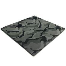 EH30 Mens Pocket Square Темно-серый Абстрактный модный платок Классический аксессуар
