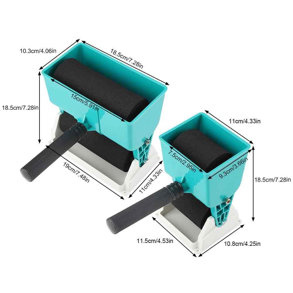 Cubos de pintura de 180 mL/320 mL, aplicador de pegamento portátil, encolador Manual de rodillo para herramienta de pavimentación de carpintería