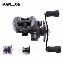 Mavllos 8.1:1 High Ratio BFS Baitcasting Fishing Reel Left Right Hand Double Metal Spool Surf Low Profile Fishing Casting Reel