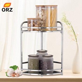 ORZ 2-Tier Ecke Lagerung Halter Regale Küche Bad Organizer Spice Rack Würze  Jar Flasche StorageHolder Bad Regal