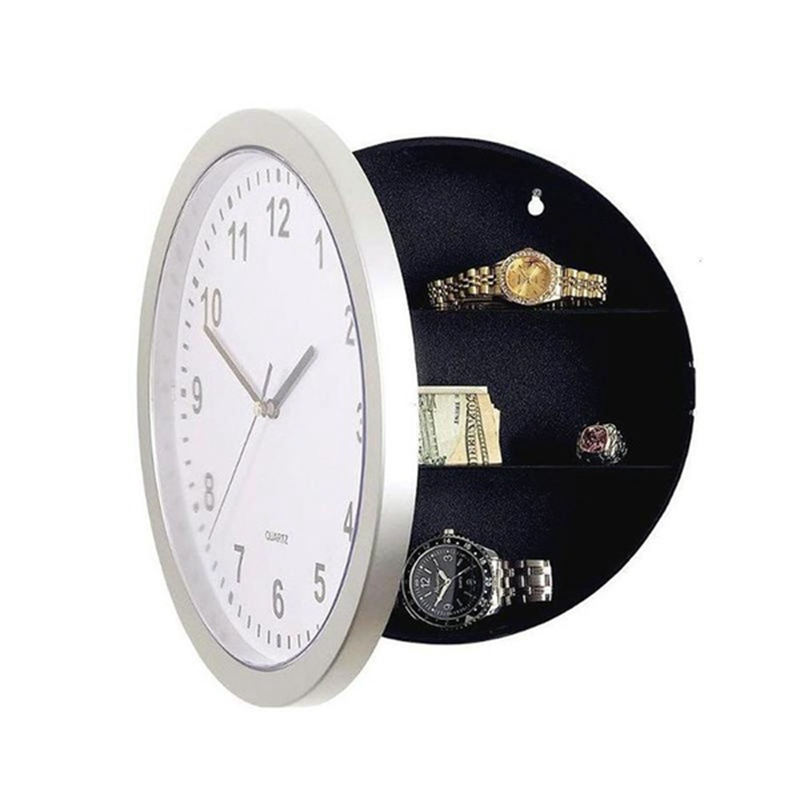 Wall Clock Hidden Safes,Clock Safe Secret Safes Hidden Safe Wall Clock For Secret Stash Money Cash Jewelry,Wall Clock Compartme