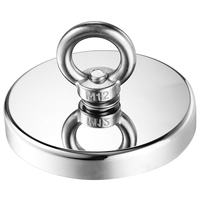 WSFS Hot 1144Lbs 520Kg Pulling Force Magnetic Diameter 4.72Inch 120Mm Grade N52 Round Neodymium Magnet With Eyebolt