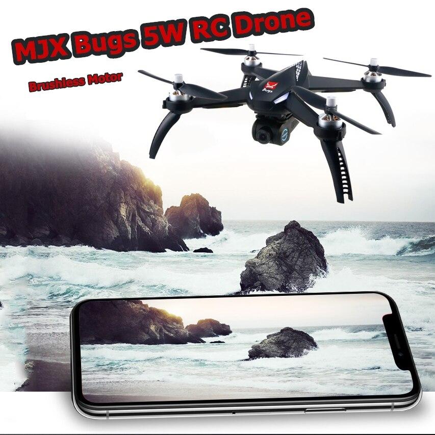 Bugs 5 W 1080 P HD GPS Câmera MJX RC Zangão Brushless Motor Com WIFI 5G FPV Câmera Ajuste retorno Auto RC Quadcopter