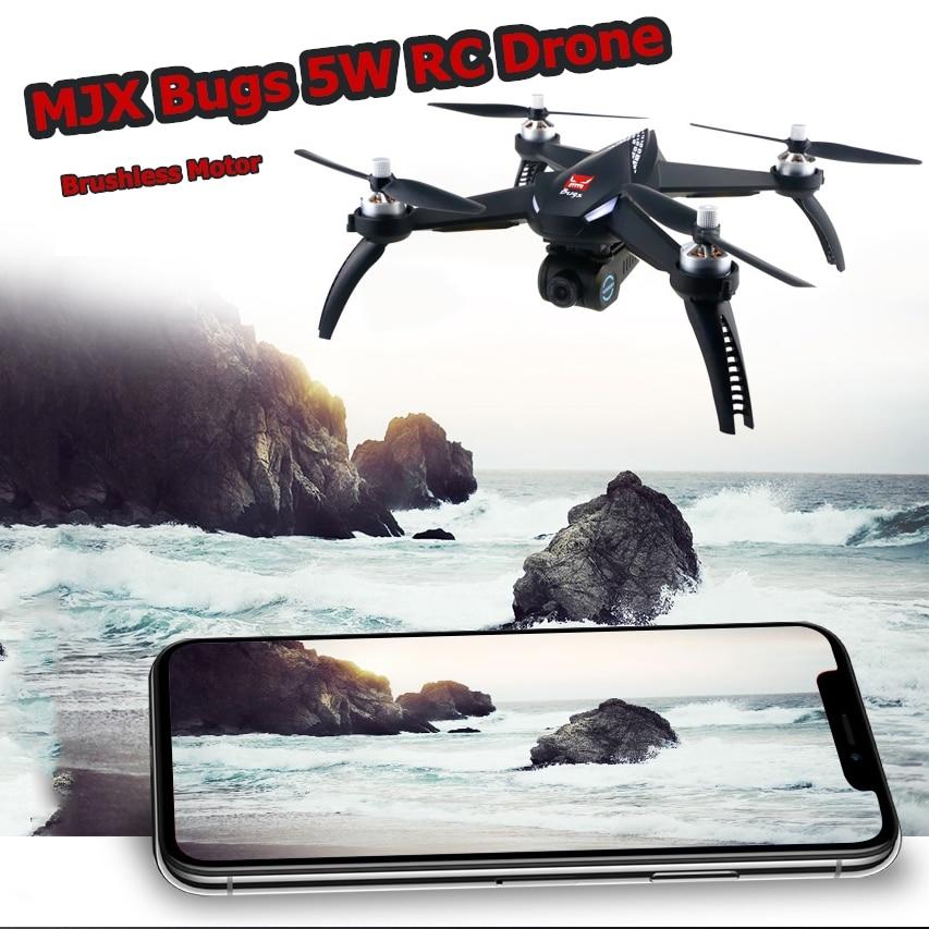 MJX Bugs 5 W moteur sans balai 1080 P HD Caméra drone rc Avec Appareil de Réglage WIFI 5G FPV GPS Auto Retour quadcopter rc