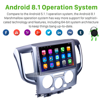 9 Inch Android 8 1/7 1 Car Multimedia Player Radio For 2009-2016