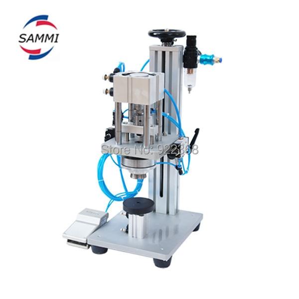 2018 new product aluminum screw capping machine wine semi automatic/perfume bottle sealing machine free ship