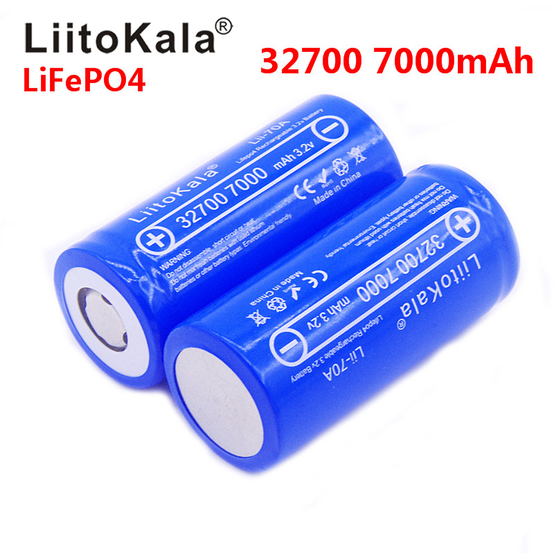 2020 New LiitoKala Lii-70A 3.2V 32700 6500mah 7000mAh LiFePO4 Battery 35A Continuous Discharge Maximum 55A High Power Battery