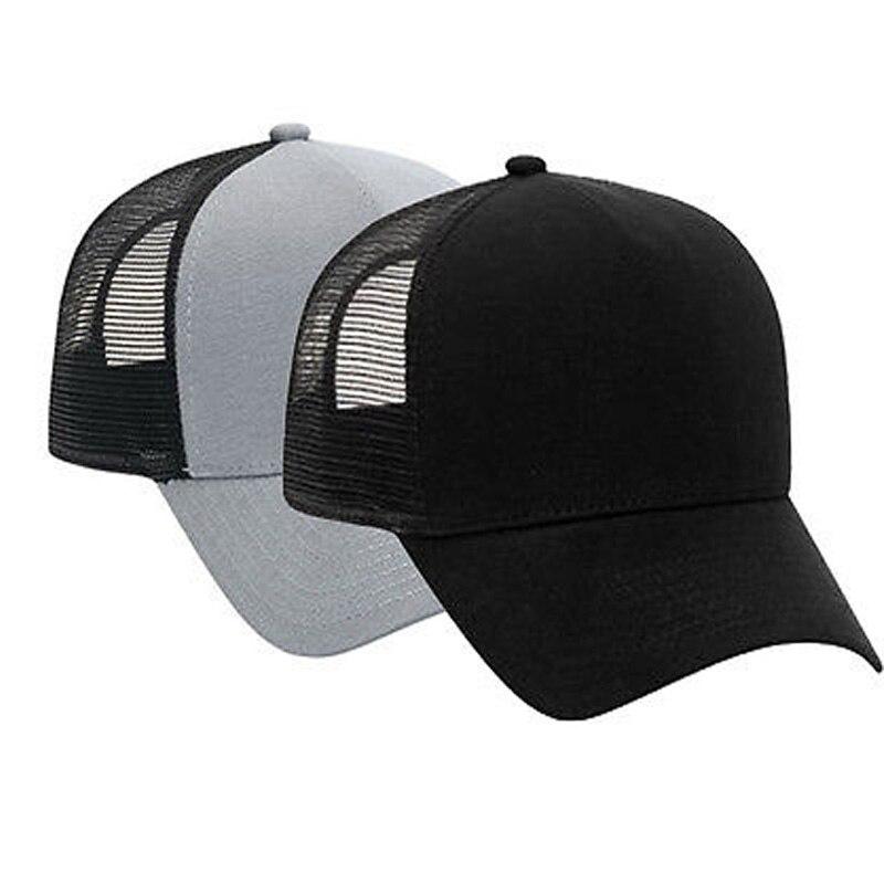 Trucker-Hat Baseball-Caps Mesh Back-Justin Bieber Adjustable BLACK SOLID with Flannel