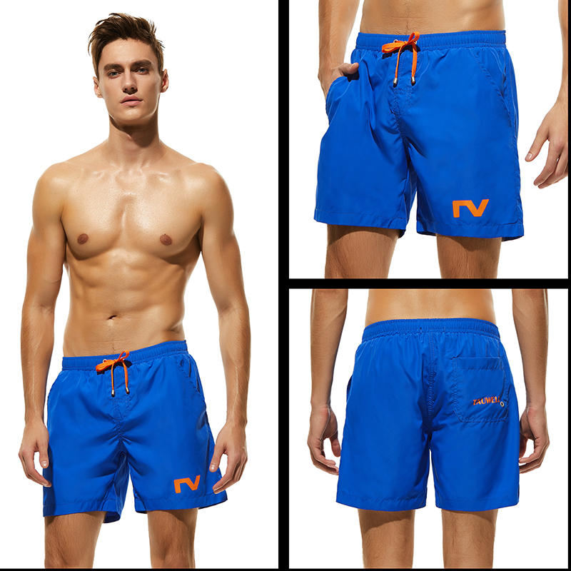 Newest Men's Blue   Board     Shorts   Solid Surfing   Shorts   Loose Swim Boxes S-XL Beach Pants Man Polyester Swimsuit Bermuda Boardshort
