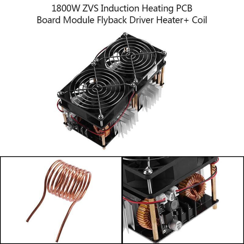 1800 Вт ZVS индукционный нагревательный Модуль платы блока программного управления Flyback драйвер нагреватель + катушка - 3