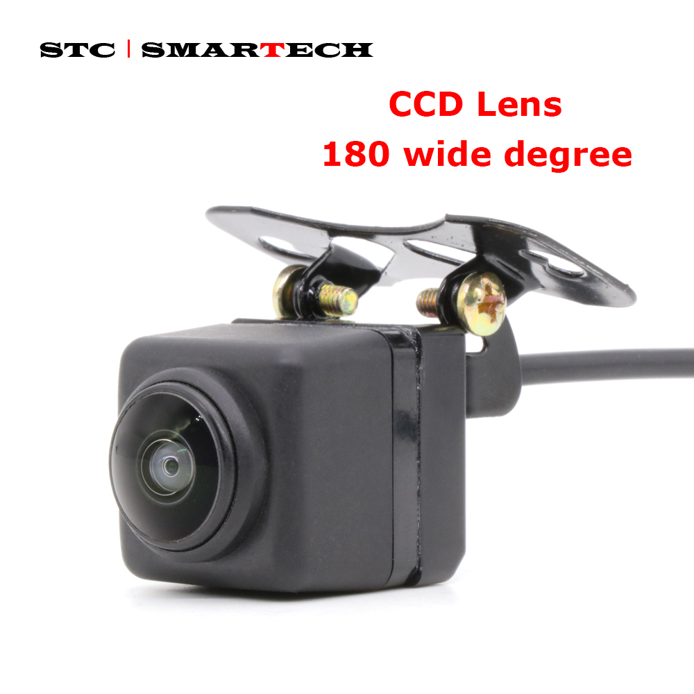 SMARTECH 180 Degree Car Camera CCD Lens Large Wide-angle Front Camera Without Parking Line, Front Side Camera Backup Camera