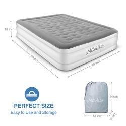 Queen размеры надувной матрас Электрический надувной матрас кровать игрушечная, игрушечная мебель портативный кровать