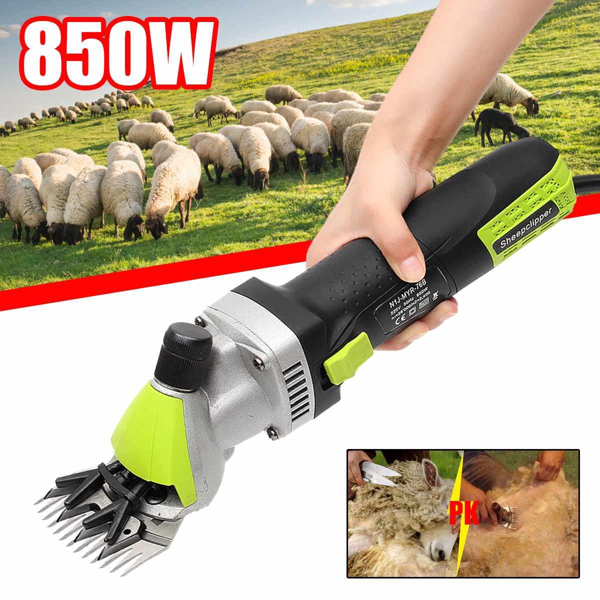 Electric Sheep Goats Shearing Clipper Animal Trimmer Tool Farm Pet Dog Hair Shearing Machine Cutter Wool Scissor 850W 220V