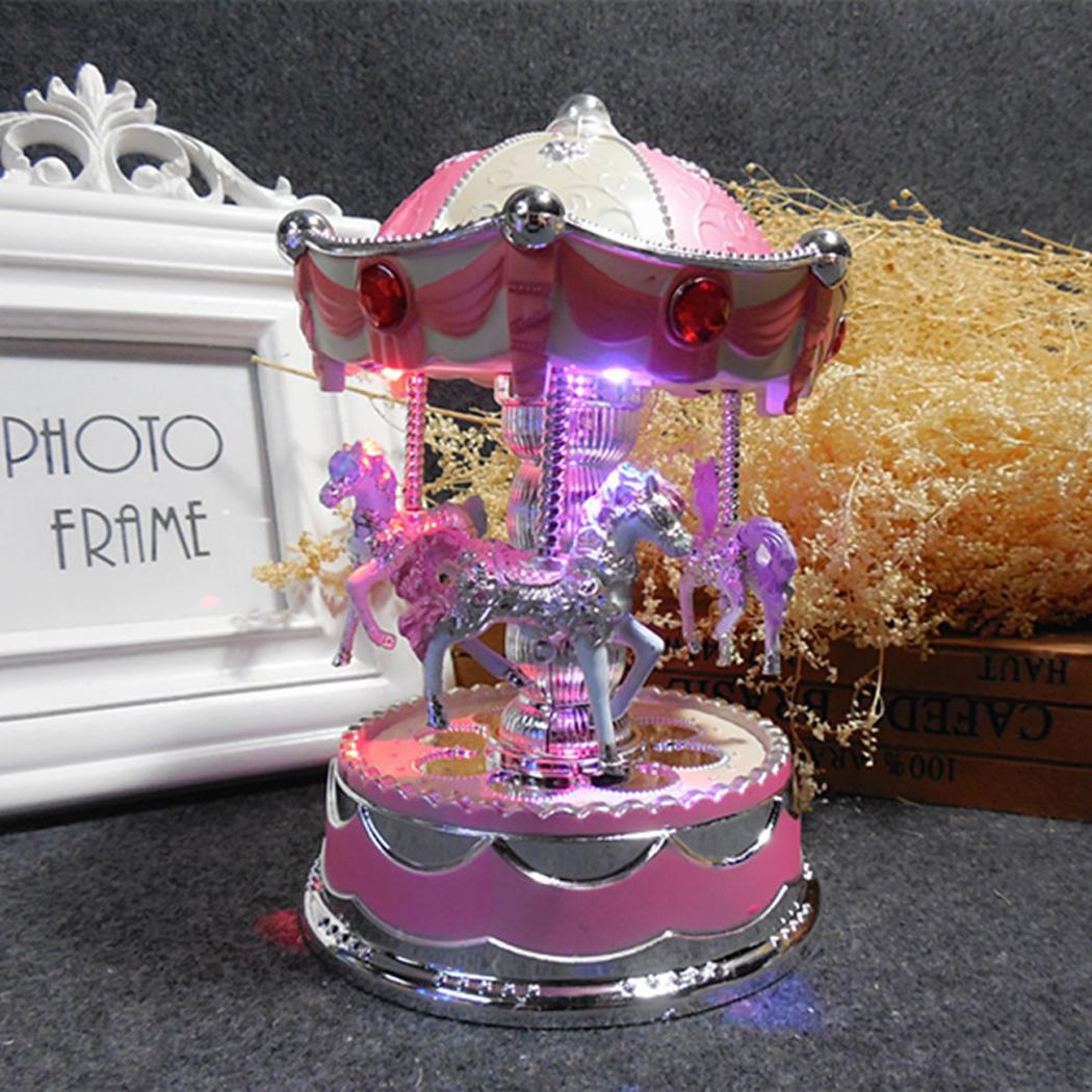 Home Decoration Christmas Party LED Box Music Beautiful etc Playback Wedding Glow Light Glow Merry Go Round Birthday