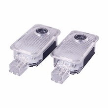 цена на 2pcs Car LED Door Welcome Ambient Light for Subaru Forester Legacy Outback Impreza Tribeca XV Auto Projector Ghost Shadow Lamp