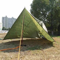 3 * 3m Outdoor Waterproof Awning Sun Shelter Camouflage Camping Mat Mattress Multifunction Mattress Ground Cover