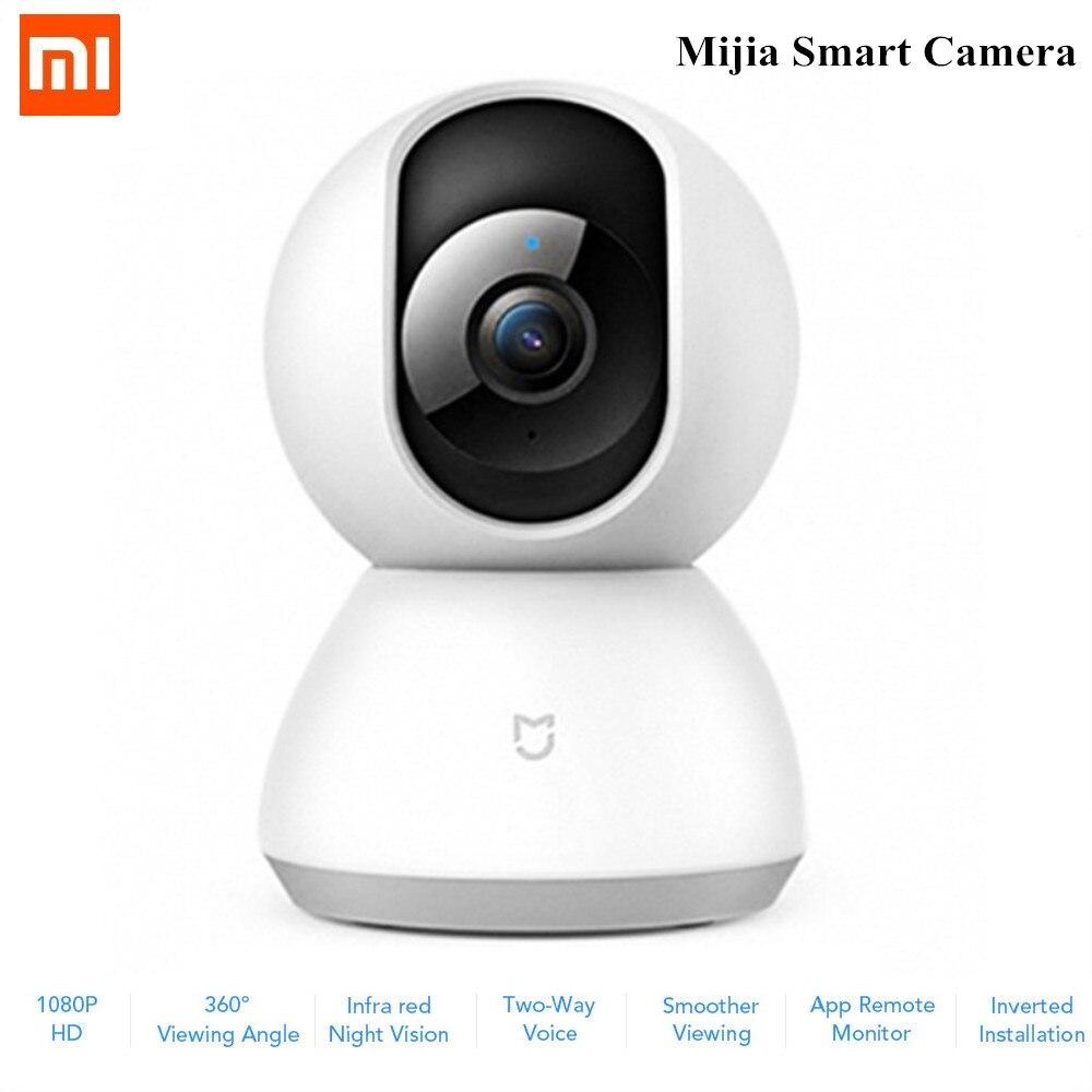 Xiaomi Mijia caméra intelligente berceau tête Version 1080 P HD 360 degrés Vision nocturne WiFi IP caméra pour Smart Home télécommande