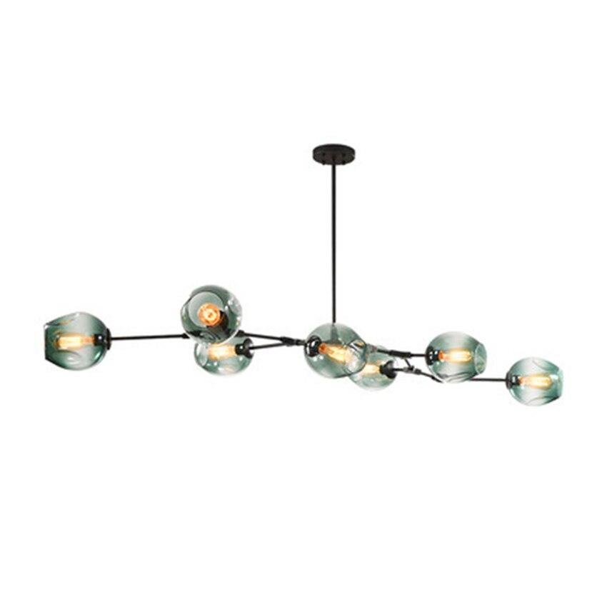 Modern LOFT Glass LED Pendant Light Nordic Dining Room Kitchen Pendant Lamps Light Designer Hanging Lamps Avize Lustre Lighting