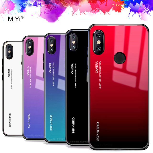 huge selection of bc149 918ae US $2.95 30% OFF|gradient tempered glass phone case For xiaomi pocophone  poco f1 cover shell mi6 mia1 mia2 mi a2 a1 8 lite se pro mix 2 s 6 Coque-in  ...