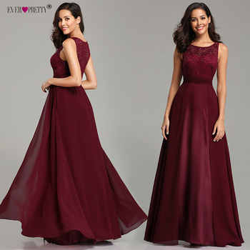 Robe De Soiree Grande Taille 2019 Ever Pretty Women's Sexy A-line Sleeveless O-neck Chiffon Lace Cheap Evening Dress Party Gowns - DISCOUNT ITEM  35% OFF All Category