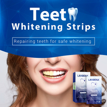 LANBENA Teeth Whitening Strips Daily Use Oral Hygiene Veneers White Removes Plaque Stains Easy Carry 7 Pairs / Box