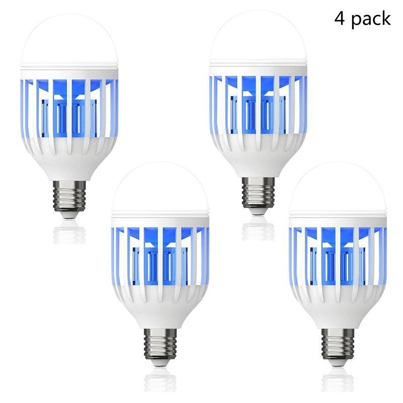4PCS Light Zapper LED Lightbulb Mosquito Fly Insect Killer Bulb Lamp 220V 4PCS Light Zapper LED Lightbulb Mosquito Fly Insect Killer Bulb Lamp 220V