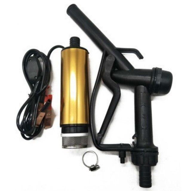 Gratis Verzending 12V Oliepomp En Brandstof Pistool Pompen Dompelpompen Diesel Pompen Flow 30L/Min Elektrische Mini Veld auto Voor Waterpomp