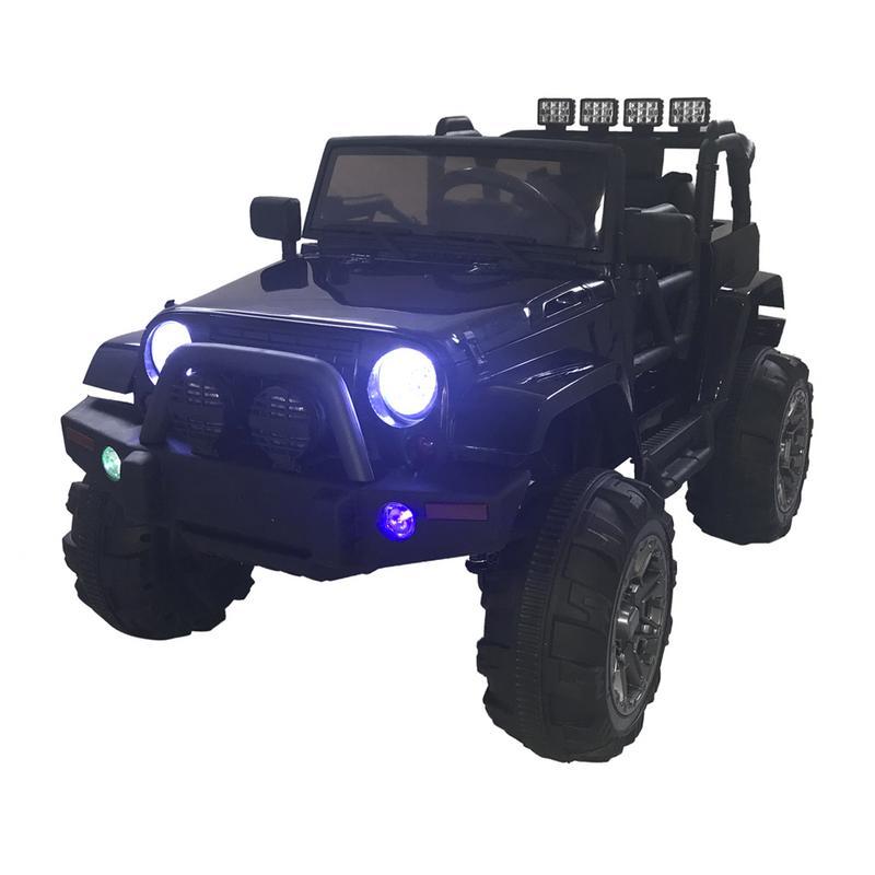 Enfants RC télécommande SUV avec LED lumières MPS noir tout-terrain Veicoli modèle jouet véhicules garçon cadeaux antichoc tout-terrain véhicule