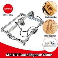 7000mw 100x100cm CNC DIY Desktop Mini Laser Engraving Machine Wood Router Cutter Printer Logo Mark Laser Carving+Laser Goggles