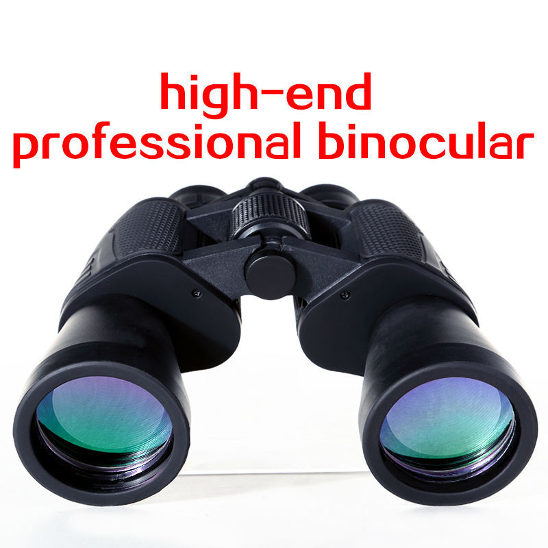 Hunting Binoculars 10x50 Verrekijker Nachtzicht Jumelles Binoculaire Wide Angle Binoculars Waterproof Telescope BAK4 Prism New