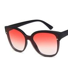 2d62e3997d Nueva Plaza gafas de sol de las mujeres de los hombres de moda Color  degradado lente gafas de sol Vintage sombrilla gafas mujer .