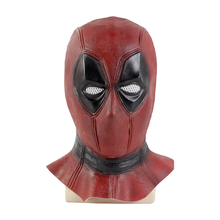 High Quality Deadpool Mask Costume Cosplay Marvel Deadpool Mask Face Halloween Adult Props Party Full Face Latex Mask halloween props deadpool mask eco friendly resin cosplay party mask full face 11 6 7 inch