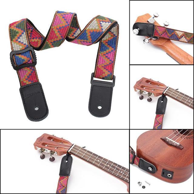 Bohemian Style Soft Ukulele Straps