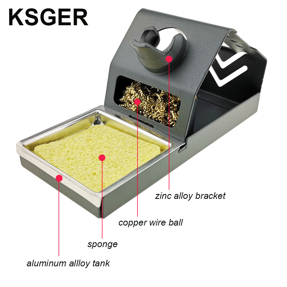 Image 2 - KSGER  DIY T12 Zinc alloy Holder Soldering Iron FX9501 Handle Frame OLED Station Stand For Stainless Steel Handle Silicone PadElectric Soldering Irons   - AliExpress
