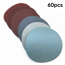 60pcs Set Sandpapers 125mm/5 Inch 1000/1500/2000/3000/5000/7000 Grit Sanding Paper Discs Hook Loop Sand Papers High Quality