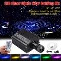 16 W RGBW LED de fibra óptica lámpara de luz 450 piezas 2 m 0,75mm + 20 piezas 2 m 1mm fibra óptica + control remoto de 28 teclas para decoración de boda de vacaciones en casa