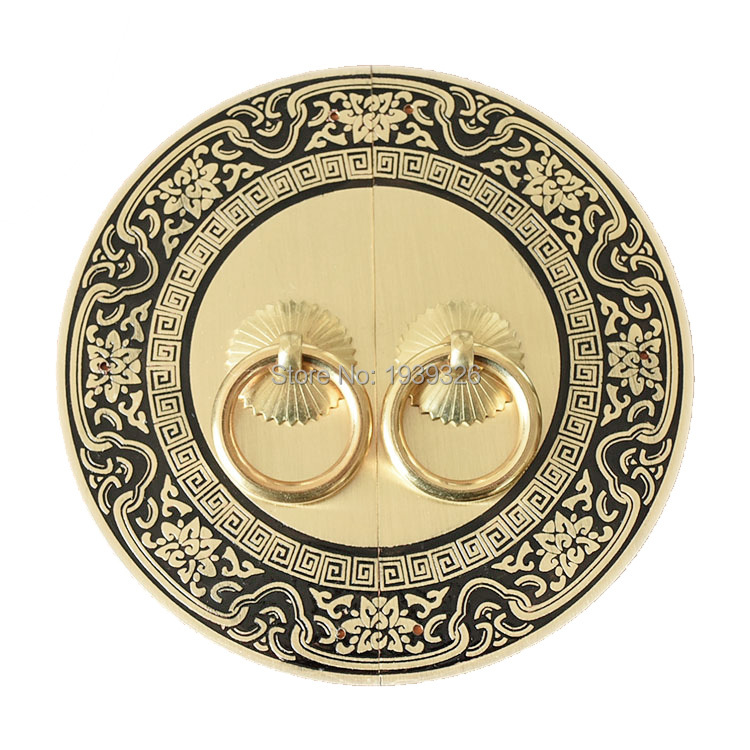 Retro Decorative Furniture Handles Hardware Accessories Kitchen Door Knobs Round Brass Cabinet Pulls Handle And Corner Brackets