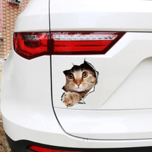 Personality Kitty 3D Personality Car Sticker Door Door 3D Stereo Anime Funny Creative Simulation Car Sticker 3d night scene door sticker